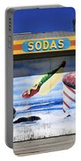 Vintage Beach Colors Portable Battery Charger