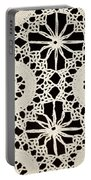 Vintage Crocheted Doily Portable Battery Charger