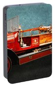 Vintage Fire Truck Portable Battery Charger