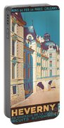 Vintage French Travel Poster Portable Battery Charger
