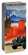 Vintage Germany Travel Poster Portable Battery Charger