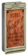 Vintage Hotel Sign 3 Portable Battery Charger