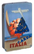 Vintage Italia Travel Poster Portable Battery Charger
