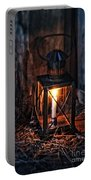 Vintage Lantern In A Barn Portable Battery Charger