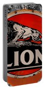 Vintage Lion Oil Sign Portable Battery Charger