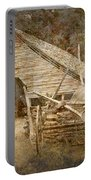 Vintage Looking Old Barn In The Great Smokey Mountains Portable Battery Charger