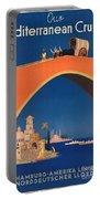 Vintage Mediterranean Travel Poster Portable Battery Charger