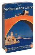 Vintage Mediterranean Travel Poster Portable Battery Charger