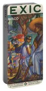 Vintage Mexico Travel Poster Portable Battery Charger