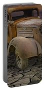 Vintage Pickup On Parched Earth Portable Battery Charger