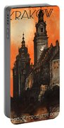 Vintage Poland Travel Poster Portable Battery Charger