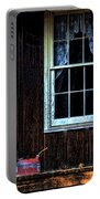 Vintage Porch Window And Gas Can Portable Battery Charger