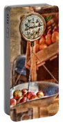 Vintage Scale At Fruitstand Portable Battery Charger