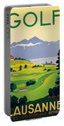 Vintage Switzerland Travel Poster Portable Battery Charger