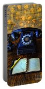Vintage Telephone And Notepad Portable Battery Charger