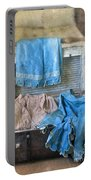 Vintage Trunk With Ladies Clothing Portable Battery Charger
