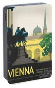 Vintage Vienna Travel Poster Portable Battery Charger