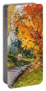 Viola In A Nice Autumn Day  Portable Battery Charger