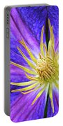 Violet Clematis Portable Battery Charger
