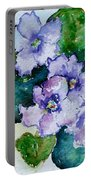 Violet Cluster Portable Battery Charger