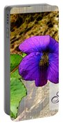 Violet Greeting Card  Sympathy Portable Battery Charger