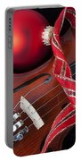 Violin And Red Ornaments Portable Battery Charger