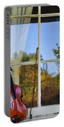 Violin On A Window Sill Portable Battery Charger