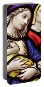 Virgin Mary And Baby Jesus Stained Glass Portable Battery Charger