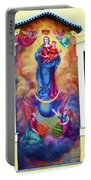 Virgin Mary Mural Portable Battery Charger by Mariola Bitner