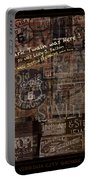 Virginia City Nevada Grunge Poster Portable Battery Charger