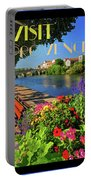 Visit Provence Poster Portable Battery Charger