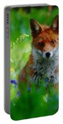 Vixen In Bluebells Portable Battery Charger