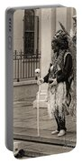 Voodoo Man In Jackson Square New Orleans- Sepia Portable Battery Charger