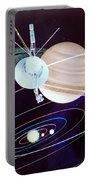 Voyager Saturn Flyby Artwork Portable Battery Charger