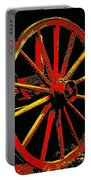 Wagon Wheel In Red Portable Battery Charger