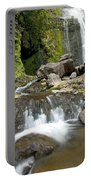 Wailua Falls And Rocks Portable Battery Charger