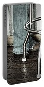 Waitress In Boots Portable Battery Charger