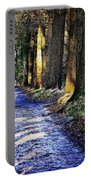 Walk On A Cold Autumn Day Portable Battery Charger