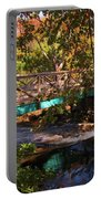 Walking Bridge In Autumn Portable Battery Charger