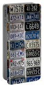 Wall Of License Plates Portable Battery Charger