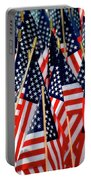Wall Of Us Flags Portable Battery Charger