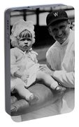 Walter Johnson Holding A Baby - C 1924 Portable Battery Charger