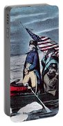Washington Crossing The Delaware, 1776 Portable Battery Charger