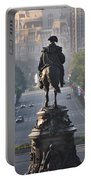 Washington Looking Down The Parkway - Philadelphia Portable Battery Charger by Bill Cannon