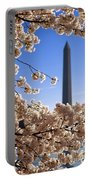 Washington Monument Cherry Trees Portable Battery Charger