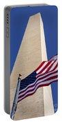 Washington Monument Flag Portable Battery Charger
