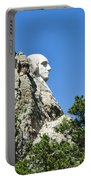 Washinton On Mt Rushmore Portable Battery Charger