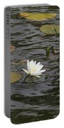 Water Circles On The Lily Pond Portable Battery Charger