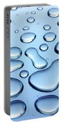 Water Drops Portable Battery Charger by Carlos Caetano