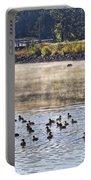 Water Fowl At Lake Wilhelmina Arkansas Portable Battery Charger